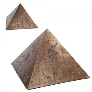 Egyptian Pyramid Memorial Keepsake Urn Majestic Dragonfly Home Decor, Artwork, Unique Decorations