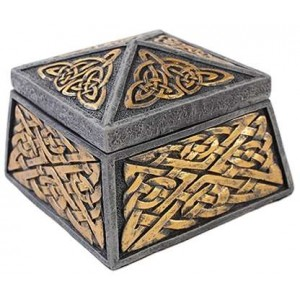Celtic Knot Lidded Trinket Box Majestic Dragonfly Home Decor, Artwork, Unique Decorations