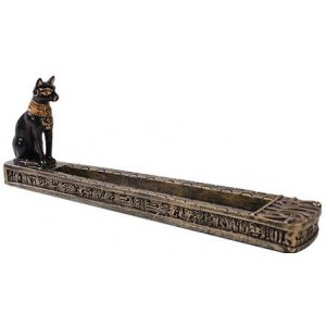 Bastet Egyptian Incense Burner Majestic Dragonfly Home Decor, Artwork, Unique Decorations