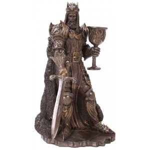 King Arthur, The Legend Bronze Resin Statue Majestic Dragonfly Home Decor, Artwork, Unique Decorations