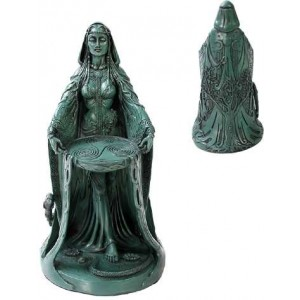 Danu Celtic Goddess Resin Statue Majestic Dragonfly Home Decor, Artwork, Unique Decorations