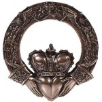 Irish Claddagh Crowned Heart Wall Plaque at Majestic Dragonfly, Home Decor, Artwork, Unique Decorations