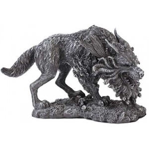 Fenrir Werewolf Statue Majestic Dragonfly Home Decor, Artwork, Unique Decorations