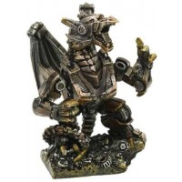 Steampunk Mechanized Dragon Statue