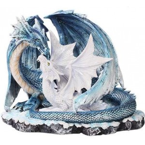 Mother and Baby Dragon Statue Majestic Dragonfly Home Decor, Artwork, Unique Decorations