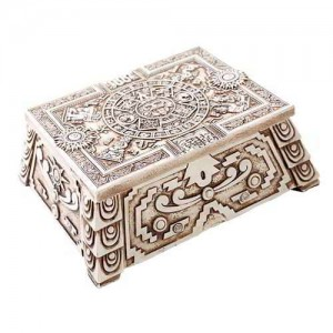 Aztec White Resin Trinket Box Majestic Dragonfly Home Decor, Artwork, Unique Decorations