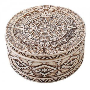 Aztec Bone Resin Round Trinket Box Majestic Dragonfly Home Decor, Artwork, Unique Decorations