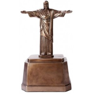 Christ the Redeemer Bronze Memorial Urn Majestic Dragonfly Home Decor, Artwork, Unique Decorations
