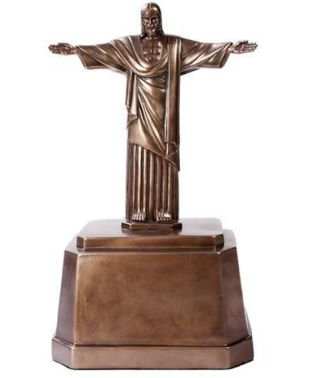 Christ the Redeemer Bronze Memorial Urn at Majestic Dragonfly, Home Decor, Artwork, Unique Decorations