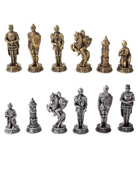 Medieval Knights Chess Set with Glass Board at Majestic Dragonfly, Home Decor, Artwork, Unique Decorations