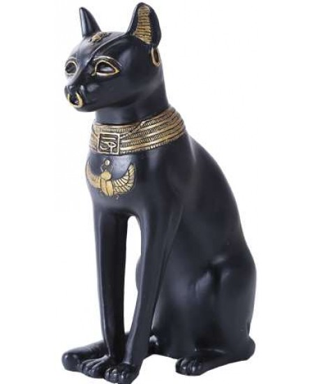 Bastet 8 Inch Egyptian Cat Statue at Majestic Dragonfly, Home Decor, Artwork, Unique Decorations