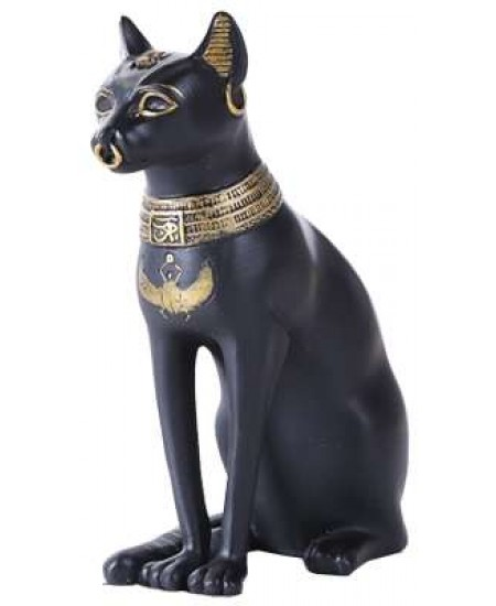 Bastet Small Egyptian Cat Statue at Majestic Dragonfly, Home Decor, Artwork, Unique Decorations