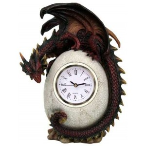 Dragon Egg Table Clock Majestic Dragonfly Home Decor, Artwork, Unique Decorations