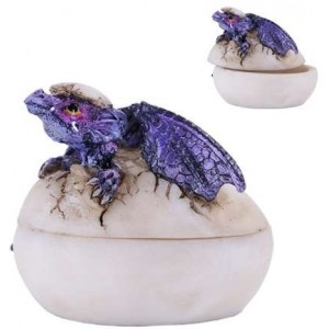 Purple Dragon Egg Box Majestic Dragonfly Home Decor, Artwork, Unique Decorations