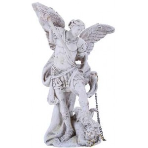Archangel Michael Small Christian Statue Majestic Dragonfly Home Decor, Artwork, Unique Decorations