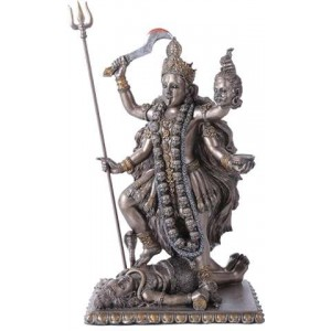 Kali Bronze Resin Hindu Goddess of Destruction Statue Majestic Dragonfly Home Decor, Artwork, Unique Decorations