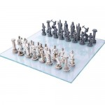 Greek Mythology Gods Chess Set with Glass Board at Majestic Dragonfly, Home Decor, Artwork, Unique Decorations
