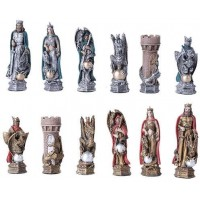 King Arthur Color Chess Set with Glass Board