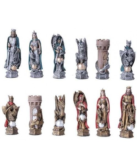 King Arthur Color Chess Set with Glass Board at Majestic Dragonfly, Home Decor, Artwork, Unique Decorations