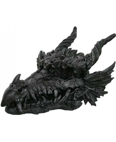 Dragon Skull Large Statue at Majestic Dragonfly, Home Decor, Artwork, Unique Decorations