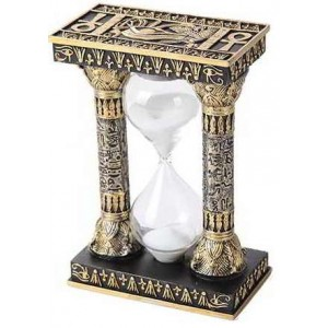 Egyptian Column Sand Timer Majestic Dragonfly Home Decor, Artwork, Unique Decorations