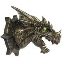 Trophy Dragon Head LED Wall Plaque
