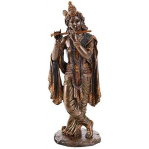 Krishna Hindu God Statue Majestic Dragonfly Home Decor, Artwork, Unique Decorations