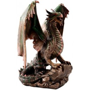 Bronzage Dragon Statue Majestic Dragonfly Home Decor, Artwork, Unique Decorations