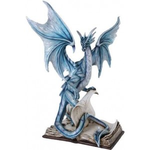 Dragon Spell Fantasy Art Statue Majestic Dragonfly Home Decor, Artwork, Unique Decorations
