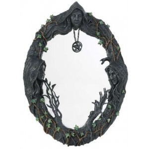 Mother Maiden Crone Wall Mirror Majestic Dragonfly Home Decor, Artwork, Unique Decorations