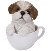 Shih Tzu Teacup Pups Dog Statue
