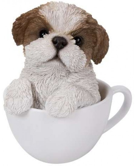 Shih Tzu Teacup Pups Dog Statue at Majestic Dragonfly, Home Decor, Artwork, Unique Decorations