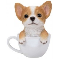 Chihuahua Teacup Pups Dog Statue