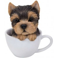 Yorkie Teacup Pups Dog Statue