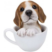 Beagle Teacup Pups Dog Statue