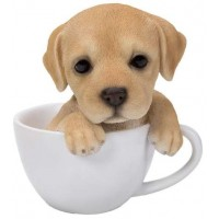 Labrador Teacup Pups Dog Statue