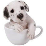 Dalmation Teacup Pups Dog Statue at Majestic Dragonfly, Home Decor, Artwork, Unique Decorations