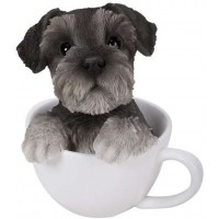 Schnauzer Teacup Pups Dog Statue