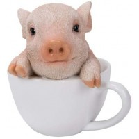 Teacup Pig Adorable Statue