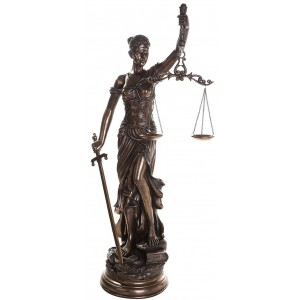 Lady Justice 48 Inch Statue in Bronze Resin Majestic Dragonfly Home Decor, Artwork, Unique Decorations