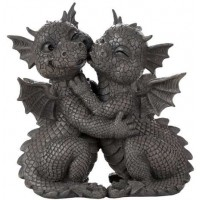 Garden Dragon Loving Couple Statue