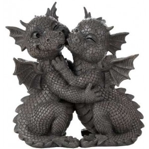Garden Dragon Loving Couple Statue Majestic Dragonfly Home Decor, Artwork, Unique Decorations