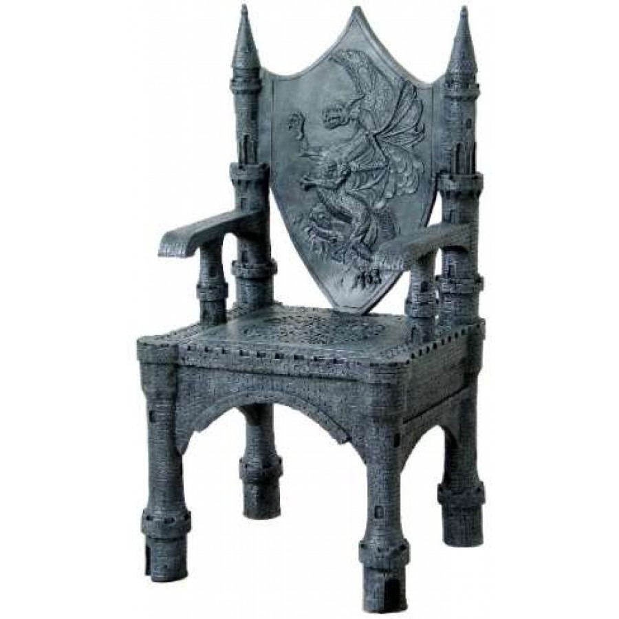 Dragon Throne Medieval Accent Chair Gothic Home Decor