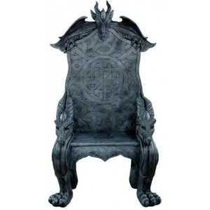 Celtic Dragon Throne Medieval Chair Majestic Dragonfly Home Decor, Artwork, Unique Decorations