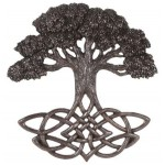 Tree of Life Celtic Knot Bronze Plaque at Majestic Dragonfly, Home Decor, Artwork, Unique Decorations
