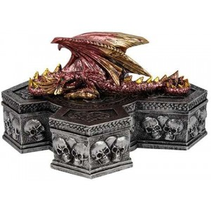 Skull Keeper Dragon Box Majestic Dragonfly Home Decor, Artwork, Unique Decorations
