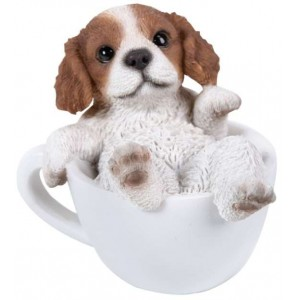 King Charles Spaniel Mini Teacup Pups Dog Statue Majestic Dragonfly Home Decor, Artwork, Unique Decorations