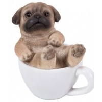 Pug Mini Teacup Pups Dog Statue