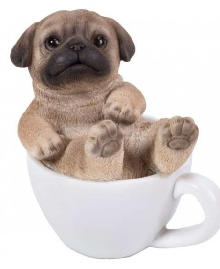 Pug Mini Teacup Pups Dog Statue at Majestic Dragonfly, Home Decor, Artwork, Unique Decorations