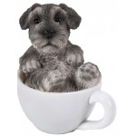 Schnauzer Mini Teacup Pups Dog Statue at Majestic Dragonfly, Home Decor, Artwork, Unique Decorations